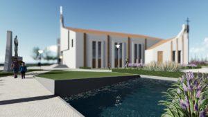 Projekt zagospodarowania terenu wokół kościoła
